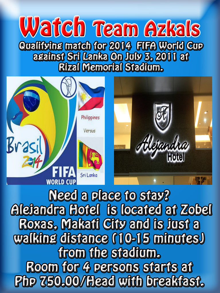 Are you planning to watch the game of the Philippine Azkals vs. Sri