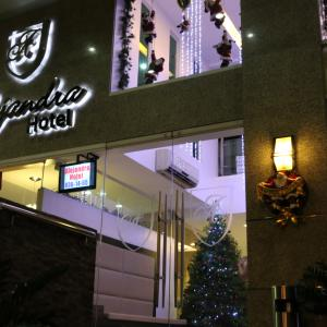 Alejandra Hotel main entrance - Christmas 2013